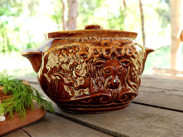 Олень – жаровня из керамики объемом 3,5 л