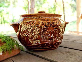 Олень – жаровня из керамики объемом 3,5 л (337)