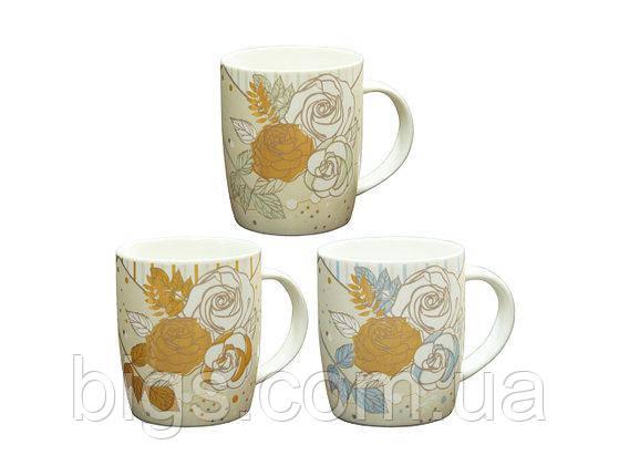 Кружка керамическая 360 мл Золотая Роза ( чайные чашки )