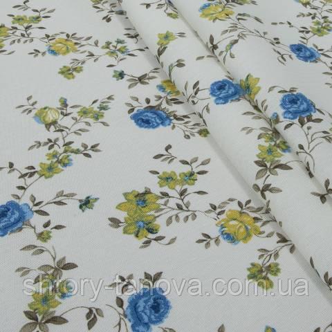 Декоративная ткань для штор, жасмин синий