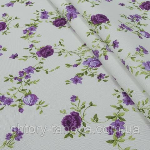 Декоративная ткань для штор, жасмин фиолетовый