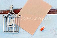 Фетр корейский жесткий 1,2 мм для рукоделия и творчества разные размеры, 923, персиковый