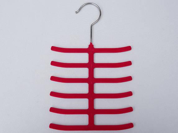 Плечики вешалки тремпеля ежик флокированный розового цвета, фото 2