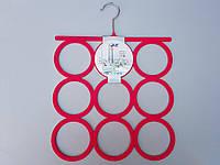 Плечики вешалки тремпеля флокированные цвета фуксии для аксессуаров