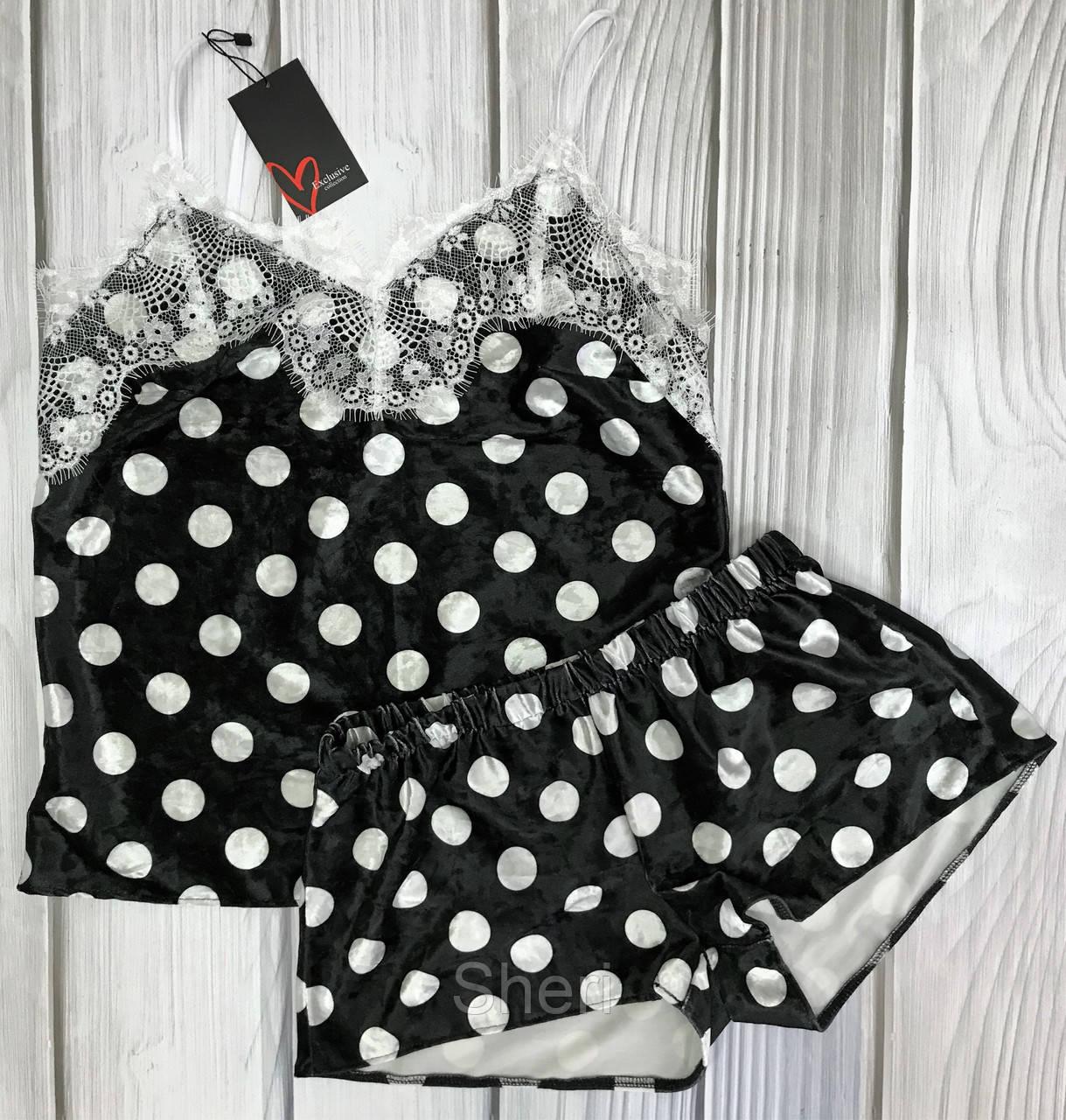 Женская велюровая пижама в горох Exclusive - Sheri в Харькове 619d877014928