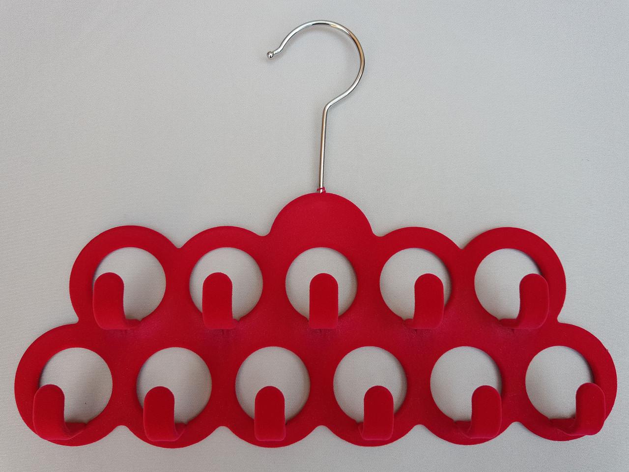 Плечики вешалки тремпеля флокированные розового цвета для аксессуаров