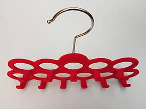 Плечики вешалки тремпеля флокированные розового цвета для аксессуаров, фото 2