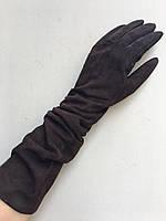 Перчатки замшевые женские зимние