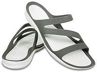 Шлепанцы женские Кроксы Свифтвотер сндалии оригинал / Crocs Women's Swiftwater Sandal