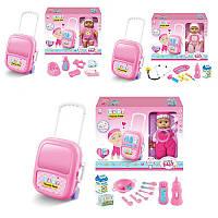 Пупс кукла 29 см baby born, чемодан на колесах, аксессуары, звук, 3 вида, 836A-B-836-2