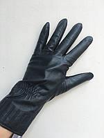 Перчатки женские кожаные зимние