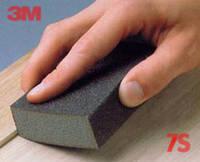 3M Шлифовальный блок 4-сторонний, жесткий, Р180-220 - Sponge Block Hard MED, 100x68x26 мм, 68027