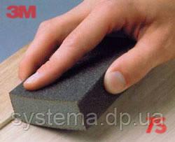 3M Шлифовальный блок 4-сторонний, жесткий, Р280-320 - Sponge Block Hard FIN, 100x68x26 мм, 68028