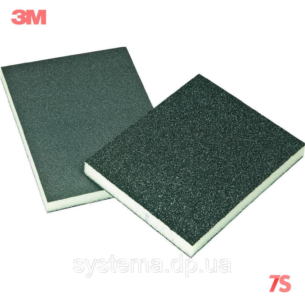 3M Губка шлифовальная 2-сторонняя, Р280-320 - Sponge Pad, 125x98x13 мм, FIN, 68024