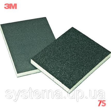 3M Губка шлифовальная 2-сторонняя, Р280-320 - Sponge Pad, 125x98x13 мм, FIN, 68024 , фото 2