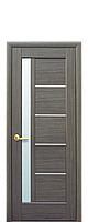 Межкомнатная дверь  Грета ПВХ DeLuxe со стеком сатин,цвет серый