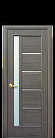 Межкомнатная дверь Грета со стеком сатин,цвет серый