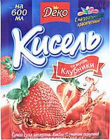 Кисель со вкусом клубники 65 г Деко (4820076014116)