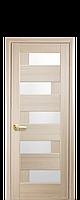 Межкомнатная дверь  Пиана ПВХ DeLuxe с матовым стеклом ,цвет ясень