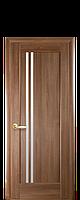 Межкомнатная дверь  Делла ПВХ DeLuxe со стеклом сатин,цвет ольха золотая
