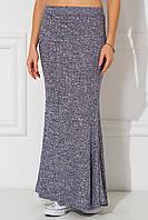 Меланжево-синяя юбка макси Lelia