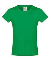 Футболка для девочек мягкая Fruit of the loom Sofspun® T 47 Ярко-Зеленый, 104