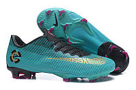 Футбольные бутсы Nike Mercurial Vapor XII Pro FG Clear Jade/Metallic Vivid Gold/Black, фото 1