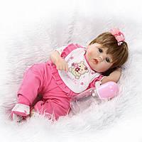 Кукла реборн Варя, мягконабивная 40 см, ручная работа
