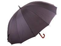 Мужской механический зонт-трость zest z41560 с большим черным куполом