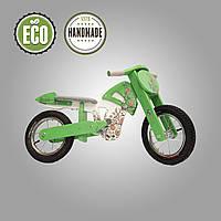 Беговел деревянный  Solid Design Flinstone Зеленый