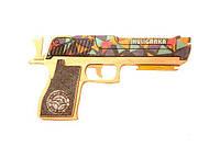 Деревянная игрушка пистолет Solid Design GummyGun Хулиганка Разноцветный