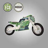 Беговел деревянный  Solid Design Jacka  Зеленый