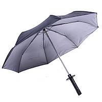Зонт с ручкой в виде катаны Черный