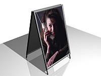 Штендер с клик системой В2, алюминиевый А-образный (Вид угла: Декоративный угол (полукруглый);  Постер: ;)