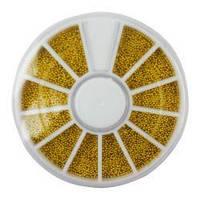 Бульонки золото пластикові в карусельці