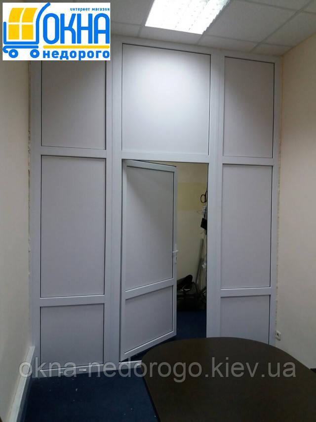 """Офисные перегородки пластиковые - фото """"Okna Nedorogo"""""""