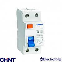 УЗО электромеханическое ВДТ NL1-63 6kA 2P  25A - 30mA, 100mA, 300mA Chint
