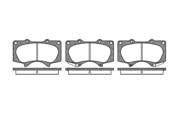 Brp lp1782 гальмівні колодки (передні) LEXUS GX, MITSUBISHI PAJERO IV