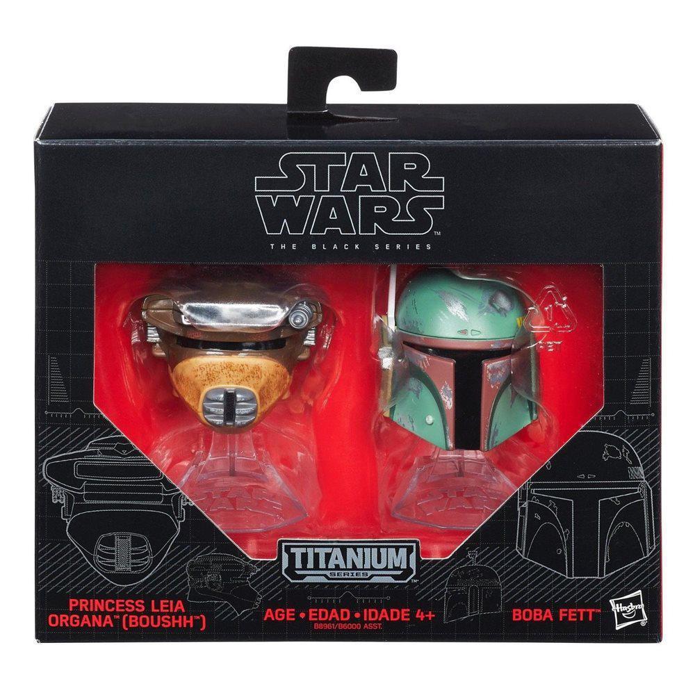 """Мини-шлемы Боба Фетт и принцесса Лея """"Звездные войны"""" - Star Wars, Black Series, Hasbro"""