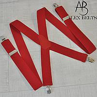 Подтяжка мужская взрослая (красная) 35 мм X-купить оптом в Одессе