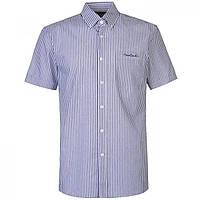 Рубашка Pierre Cardin Short Sleeve Stripe Navy/White - Оригинал