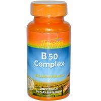В-50 (Витамины группы В) 60 капс  для нервной системы антистресс  энергетик для иммунитета Thompson USA