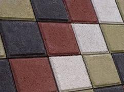 """Тротуарная плитка""""Квадрат"""",60мм цветная"""
