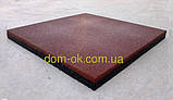 Безпечне гумове покриття для дитячих майданчиків 500*500мм, товщина 20 мм теракот, фото 3