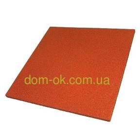 Резиновое покрытие для детских площадок 500*500мм, толщина 25 мм оранжевый