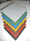 Покриття для дитячого майданчика, травмобезопасная гумова плитка 500*500мм, товщина 30 мм графіт, фото 2