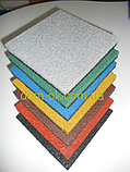 Травмобезопасная резиновая плитка для детских площадок 500*500мм, толщина 35 мм серый, фото 2