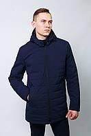 Куртка на синтепоне мужская осенняя демисезонная классика молодежнаяудлиненная