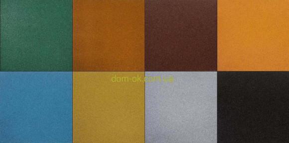 Резиновое напольное покрытие для открытой террасы 500*500мм, толщина 50 мм черный