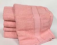 Полотенце банное однотонное Персик